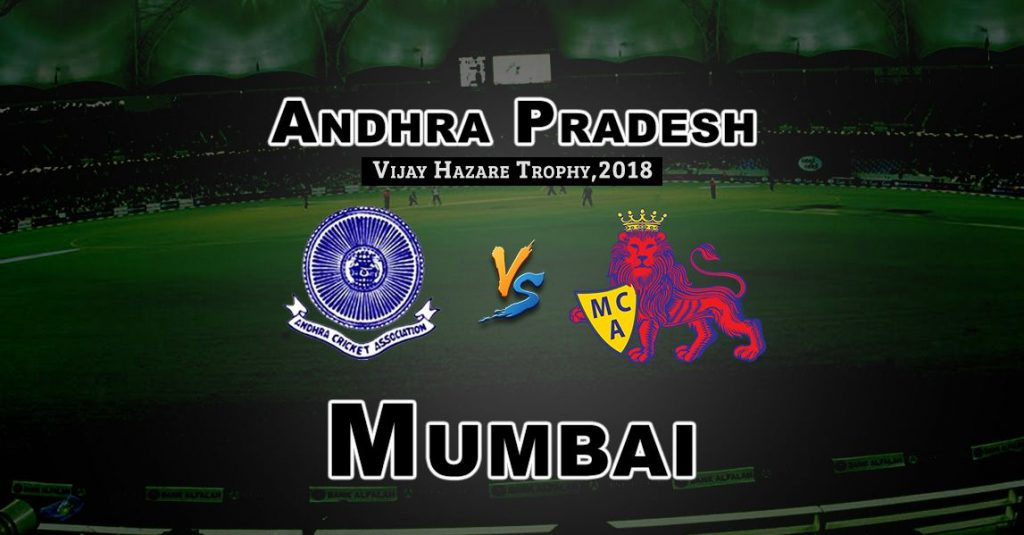 AND vs MUM Vijay Hazare Trophy Match Prediction-Fantasy Team News