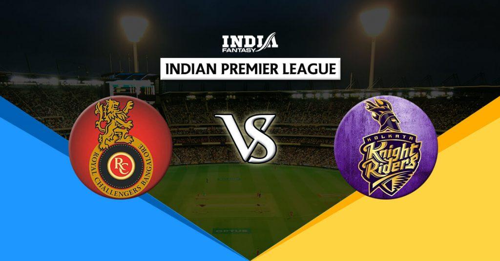 KOL vs BLR 3rd Match IPL T20 Dream11 Predictions Fantasy Team News