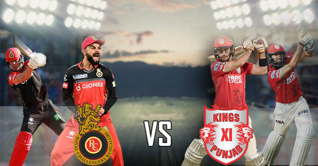 Royal Challengers Bangalore vs Kings XI Punjab 8th Match IPL 2018 Live Commentary