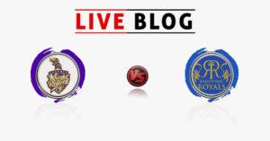 KKR VS RR Live Commentry