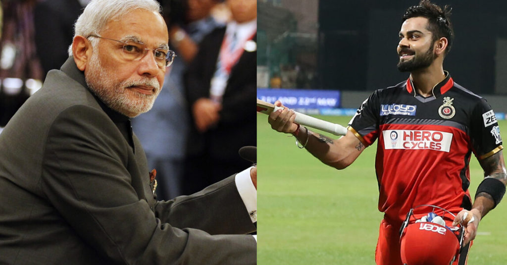 """""""Challenge Accepted"""", sporty PM Modi gives an apt reply to Kohli"""