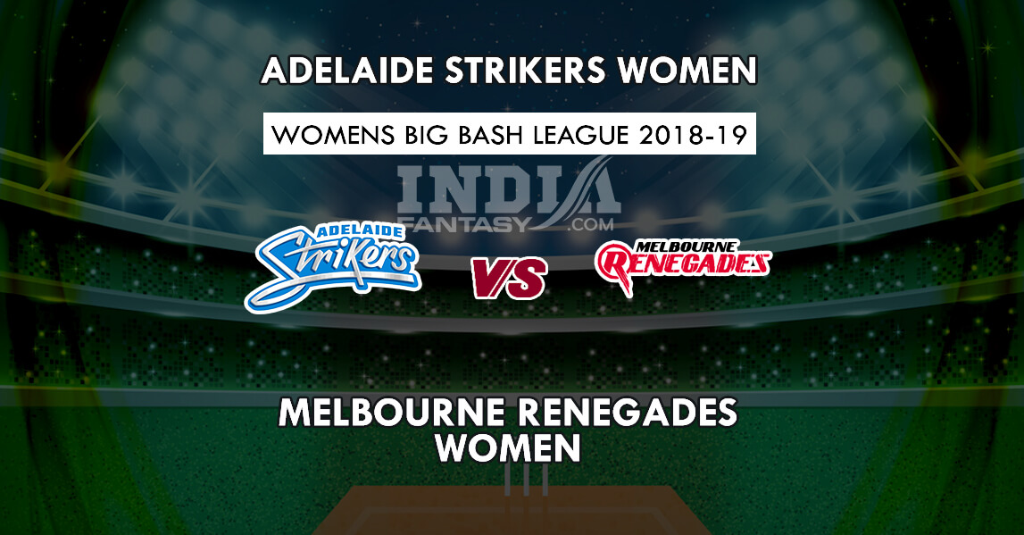 Melbourne renegades vs adelaide strikers betting preview goal casinos in colorado with craps betting