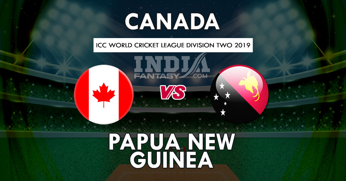 CAN vs PNG Dream11 Prediction   Canada vs PNG WCL Division Two Match