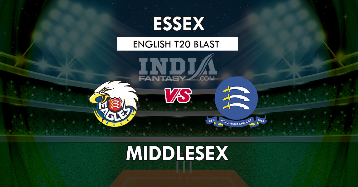 ESS vs MID Dream11 Team Prediction | Essex vs Middlesex