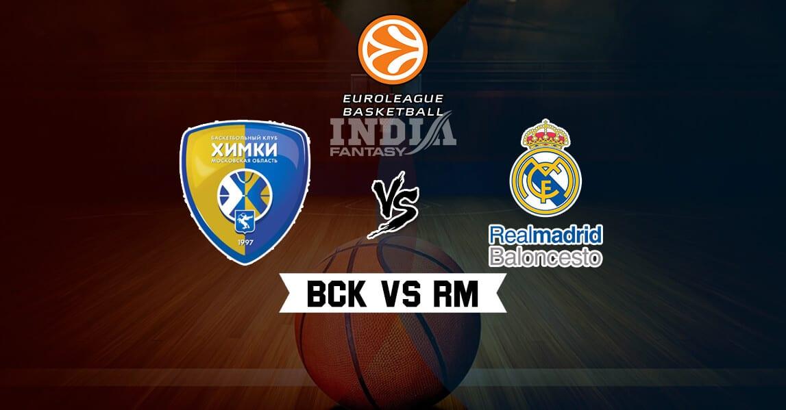 Bck Vs Rm Dream11 Match Euroleague Bc Khimki Vs Real Madrid