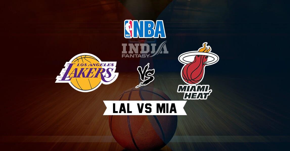 Lal Vs Mia Dream11 Match Prediction Los Angeles Lakers Vs
